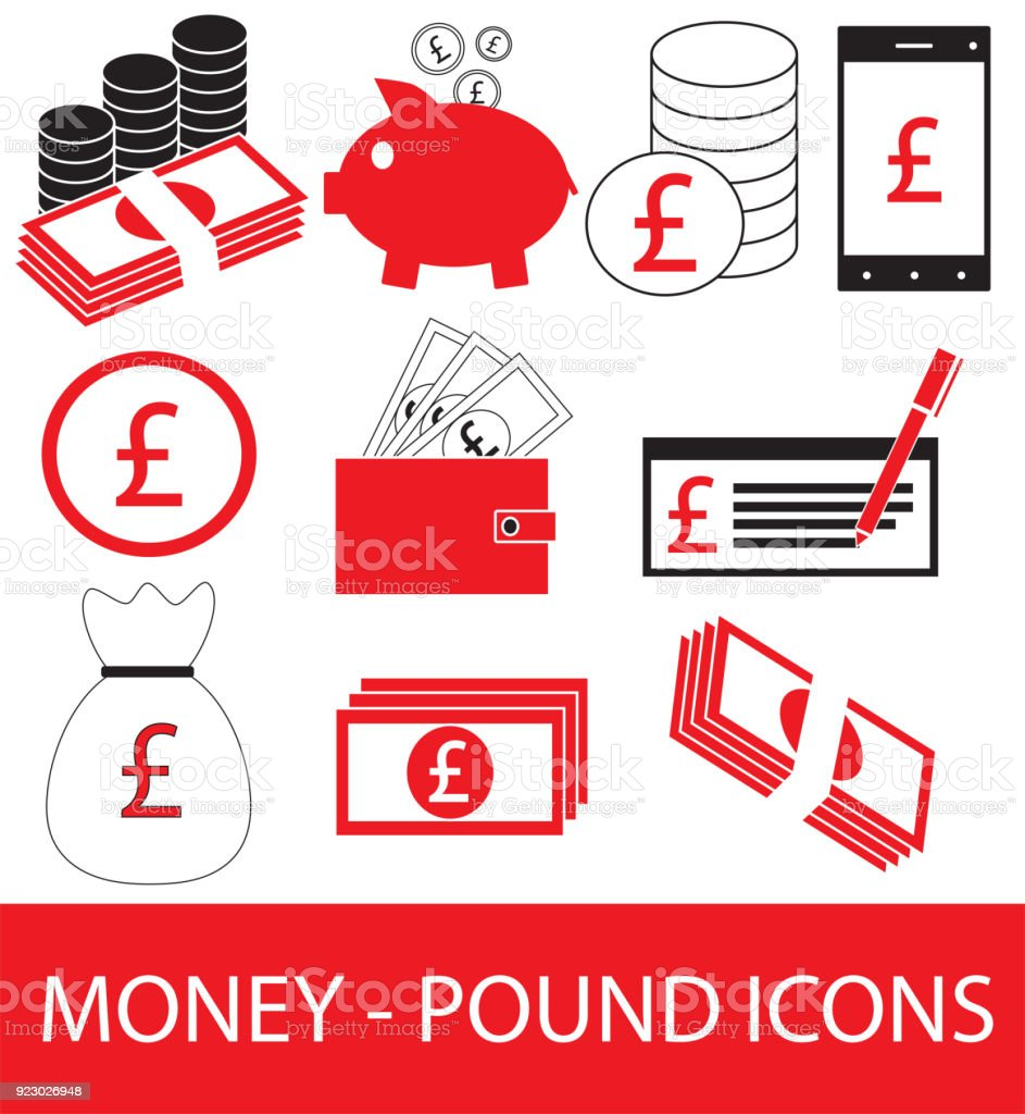 Set collection or pack of pound currency icon or symbol stock vector set collection or pack of pound currency icon or symbol royalty free stock buycottarizona Choice Image