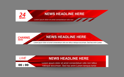 Can use  for bar Headline news title, sport game in Television, Video and Media