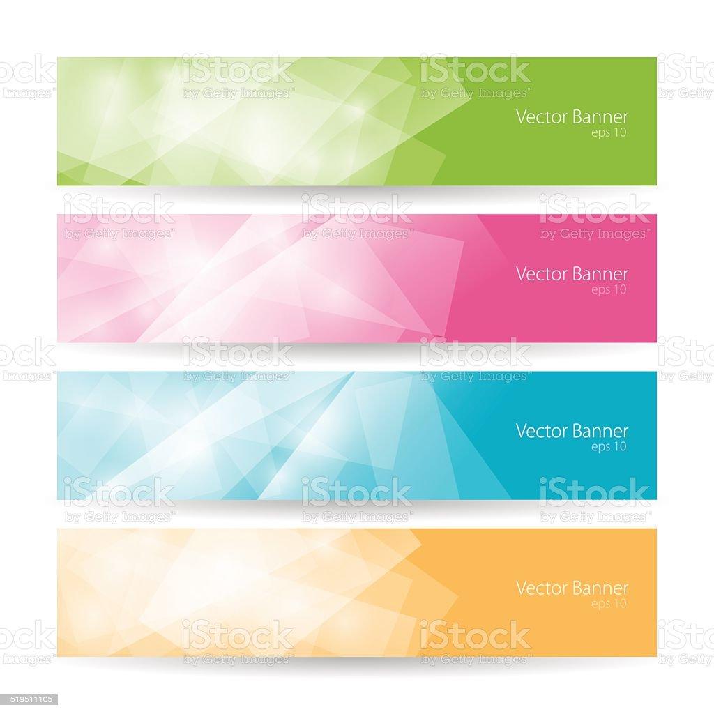 Set colorful polygonal banners , vector illustration vector art illustration
