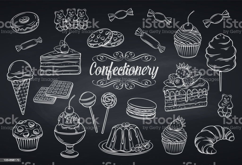 set confectionery and sweets icons - Royalty-free Alemanha arte vetorial