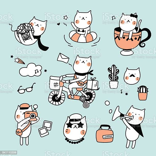 Set cute cat hipster vector id541110306?b=1&k=6&m=541110306&s=612x612&h=sxbal28rramgl3sagzdeipnpubn bkugvnne1plq7k0=