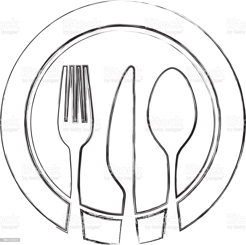 set cutlery with dish tools icon set cutlery with dish tools icon - immagini vettoriali stock e altre immagini di acciaio royalty-free