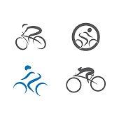 Set Cycling icon Vector Illustration design Logo template