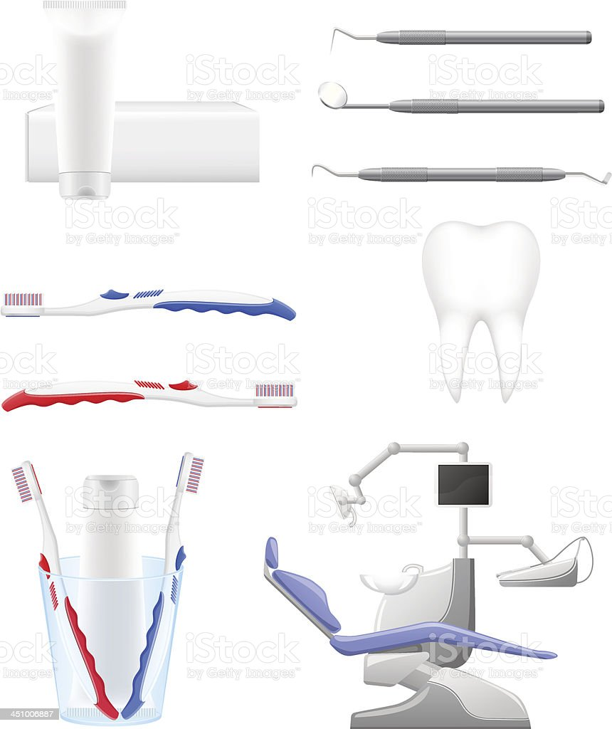 set dental icons vector illustration royalty-free set dental icons vector illustration stock vector art & more images of assistance