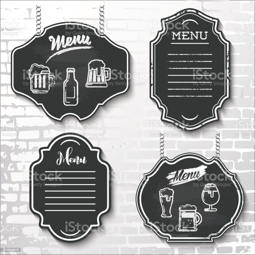 tasarım öğeleri kara tahta menü vektör örnek etiketleri shapes_4 ayarla royalty-free tasarım öğeleri kara tahta menü vektör örnek etiketleri shapes4 ayarla stok vektör sanatı & afiş'nin daha fazla görseli