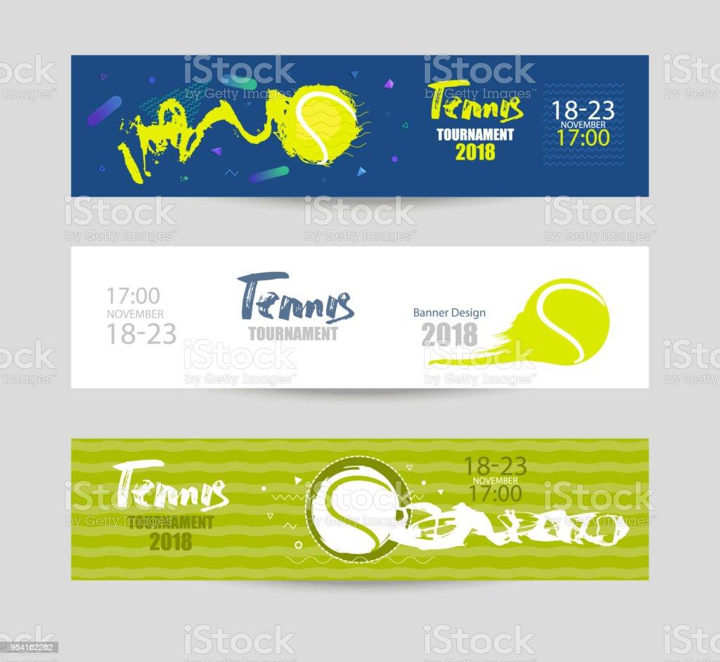 テニスのためのデザインを設定します。現代の抽象的な背景、手描き、テクスチャ、ジオメトリ。スポーツのバナー、抽象的なボールのコレクションです。 ベクターアートイラスト
