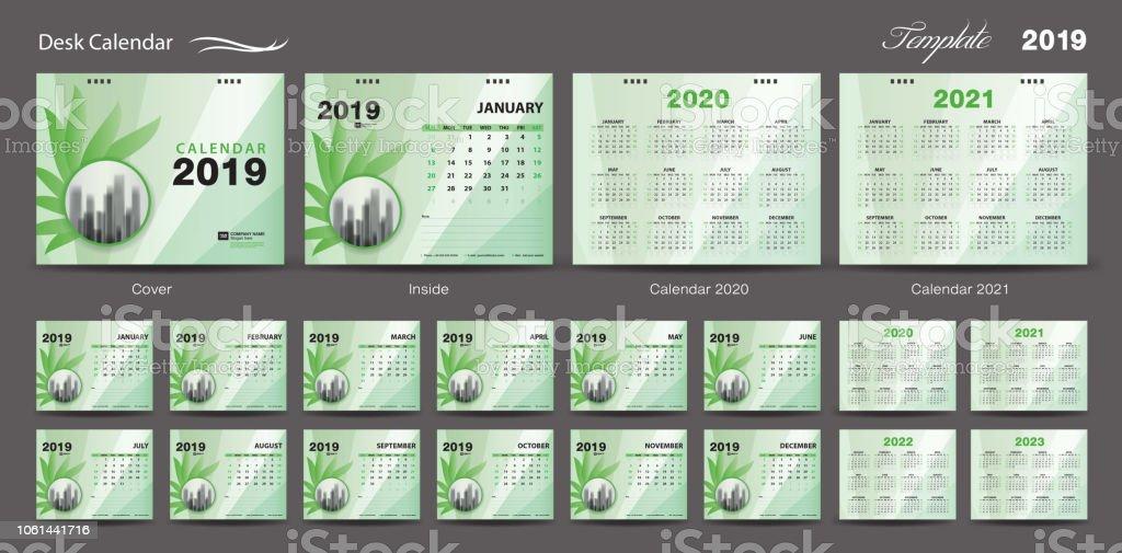 Volleyball Calendar 2020 Set Desk Calendar 2019 Template Design Vector Calendar 2020 2021