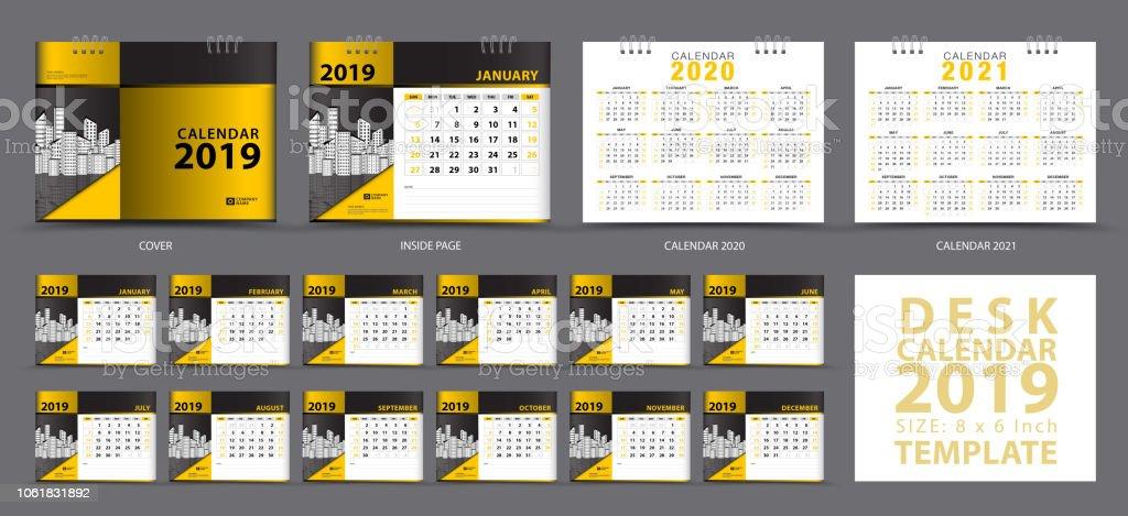 Set Desk Calendar 2019 Template Set Of 12 Months Calendar 2019 2020