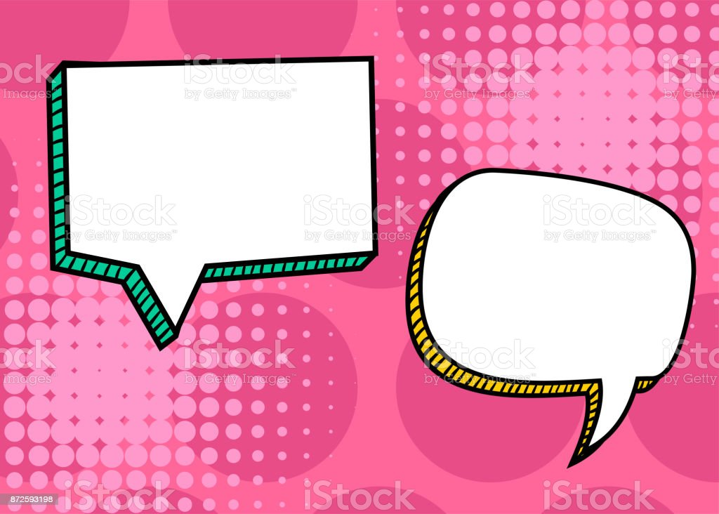 Cuadro de di logo plantilla en blanco del arte pop c mic - Cuadros pop art comic ...