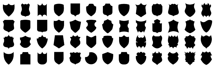 Set different shields icons, protect signs – for stock