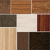 Set  different wood textures . seamless. Vector backgrounds. Brown white beige. boards.