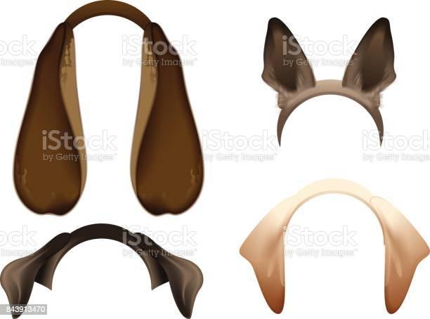 Set dog ears mask isolated on white vector id843913470?b=1&k=6&m=843913470&s=612x612&h= nryxqyclcga4jhcrvzkd pb xbljp 3yygpxtb0hx0=
