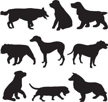 Set Dog Silhouettes