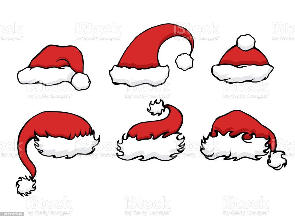 Disegni Di Natale Vettoriali.Set Di Disegni Di Natale E Cappelli Per La Tua Creativita Immagini