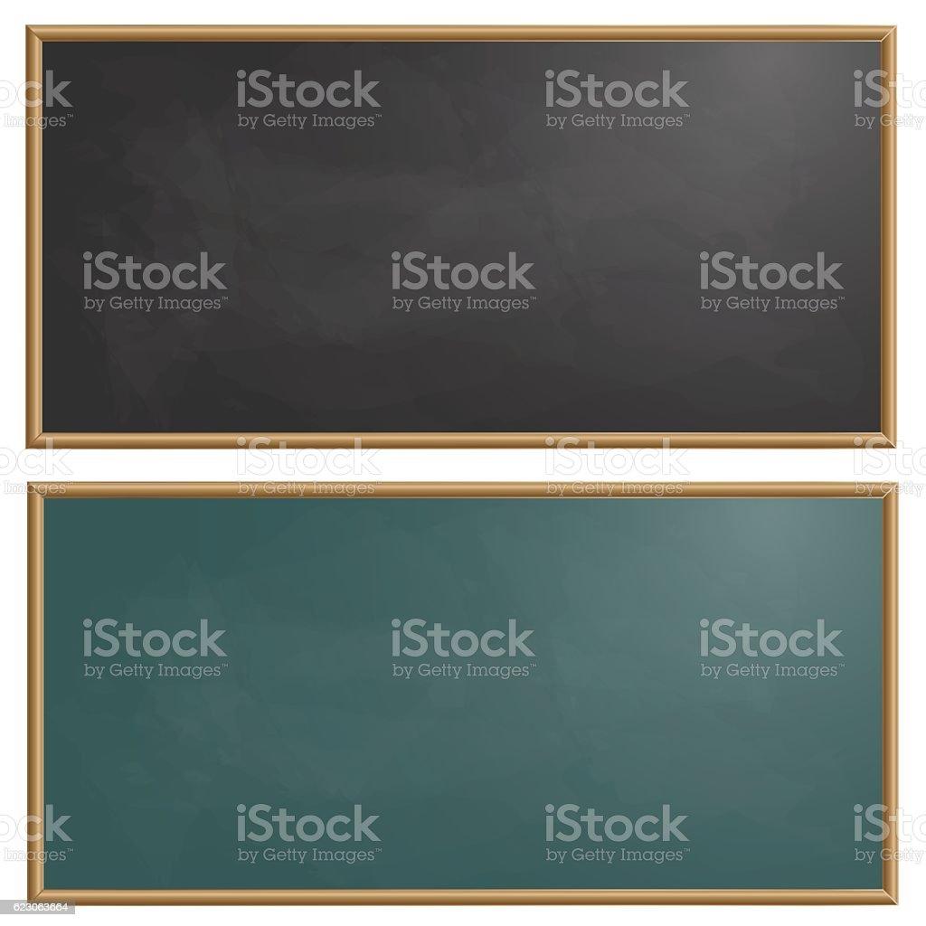 Set drawing board chalk vector illustration - ilustração de arte em vetor