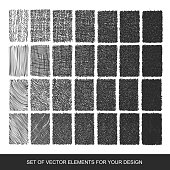 Set drawing gradient texture brushes. Hand-drawn abstract design elements. vector Collection of backgrounds