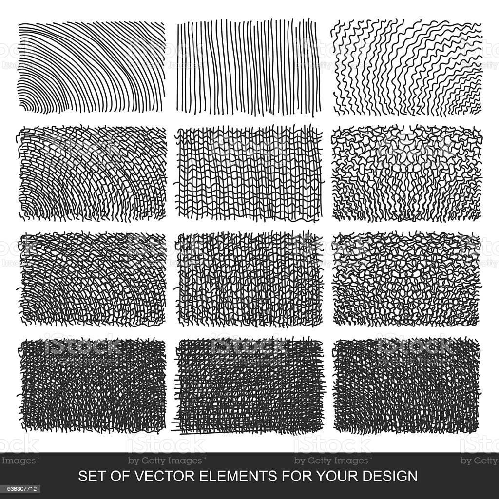 Drawing Lines In Photo Elements : Set drawing gradient texture brushes handdrawn abstract