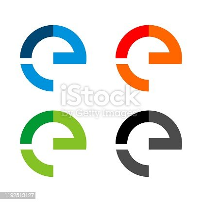 Set E Letter Vector Logo Template Illustration Design. Vector EPS 10.