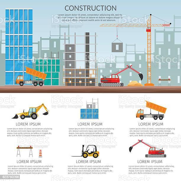Set Elements Construction Concept Process Construction Building House Vector Set Stock Illustration Download Image Now Istock