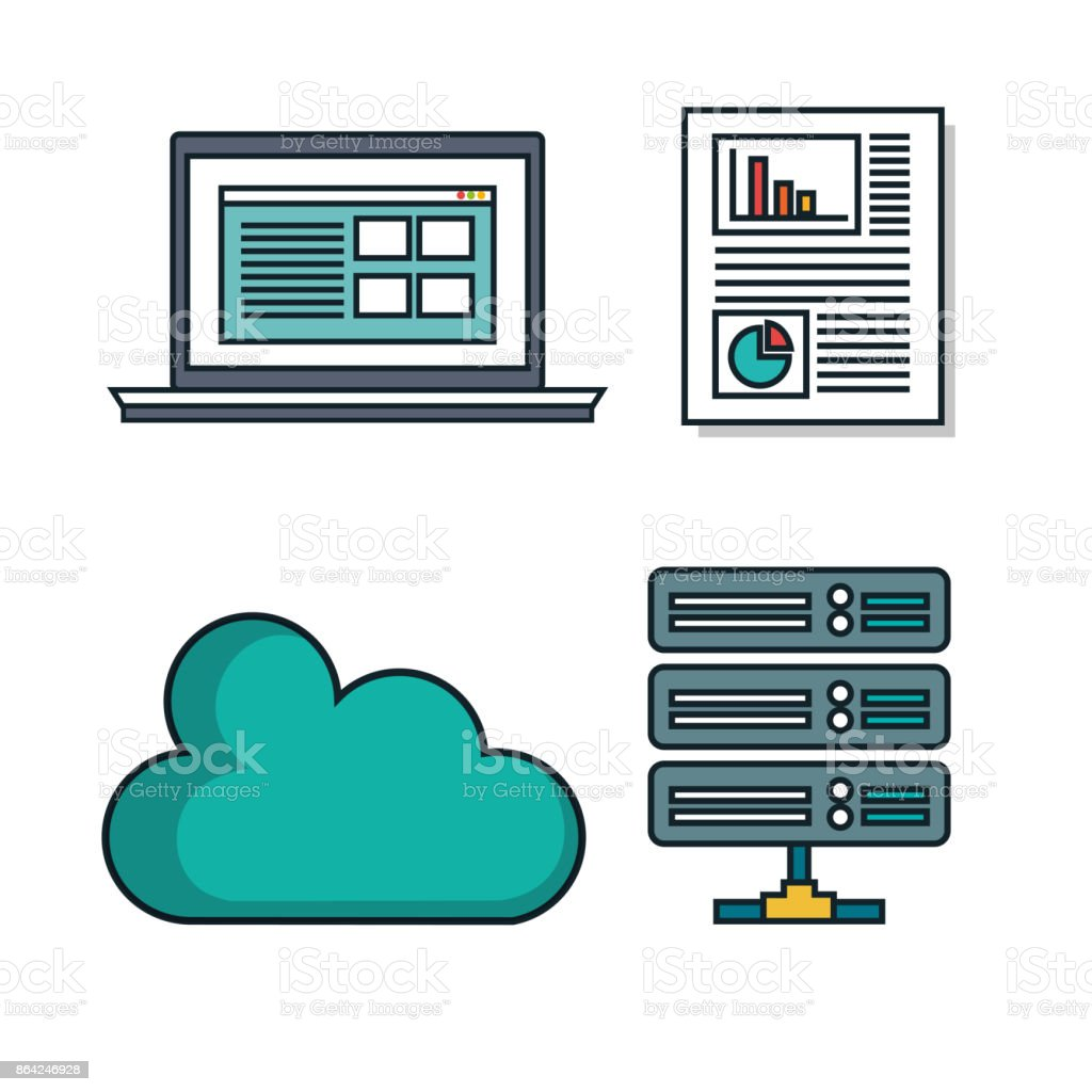 set elements data center desing isolated royalty-free set elements data center desing isolated stock vector art & more images of analyzing