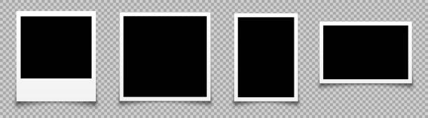 ilustrações, clipart, desenhos animados e ícones de definir quadro de fotos vazio, moldura da coleção - vetor de estoque - imagem