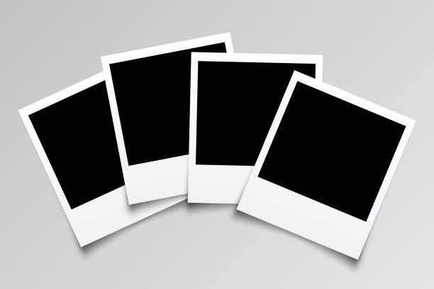 Set empty photo frame - for stock Set empty photo frame - for stock polaroid frame stock illustrations