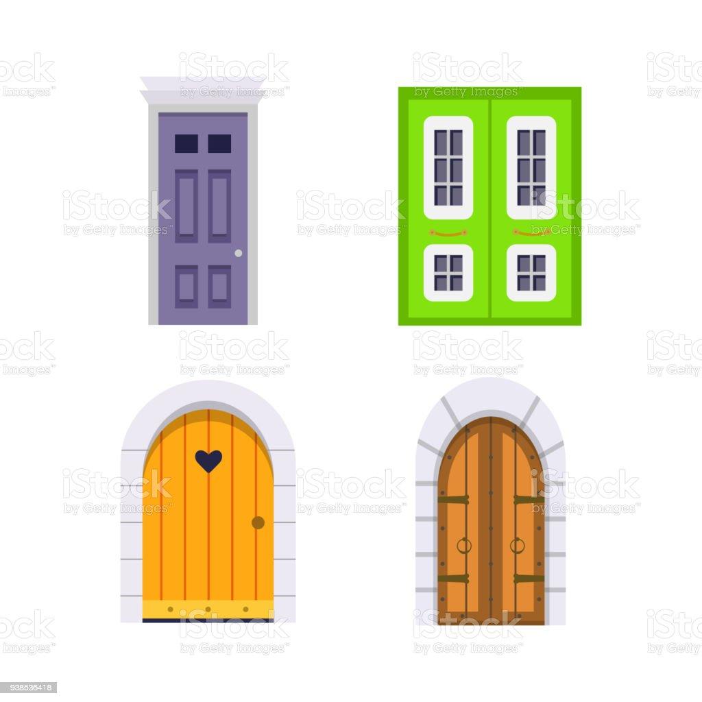 Ilustración de Establecer Vista Frontal De La Puerta De Entrada ...