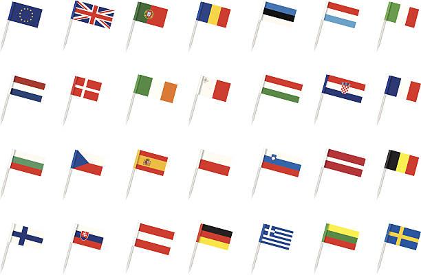 Die EU-Flagge – Vektorgrafik