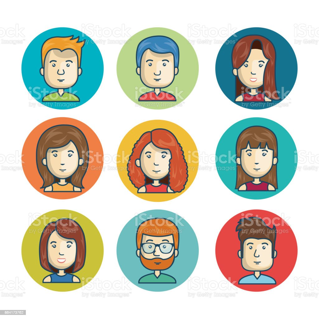 set faces character online community isolated royalty-free set faces character online community isolated stock vector art & more images of administrator