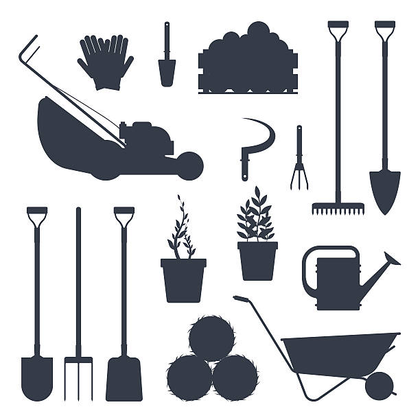 Royalty Free Gardening Fork Clip Art, Vector Images