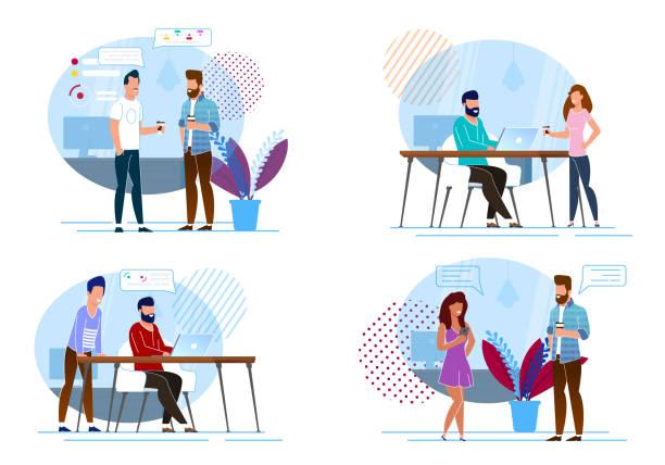 Setzen Sie Favorite Coffee Break Vector Illustration. – Vektorgrafik