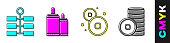 Set Firework, Firework, Chinese Yuan currency and Chinese Yuan currency icon. Vector