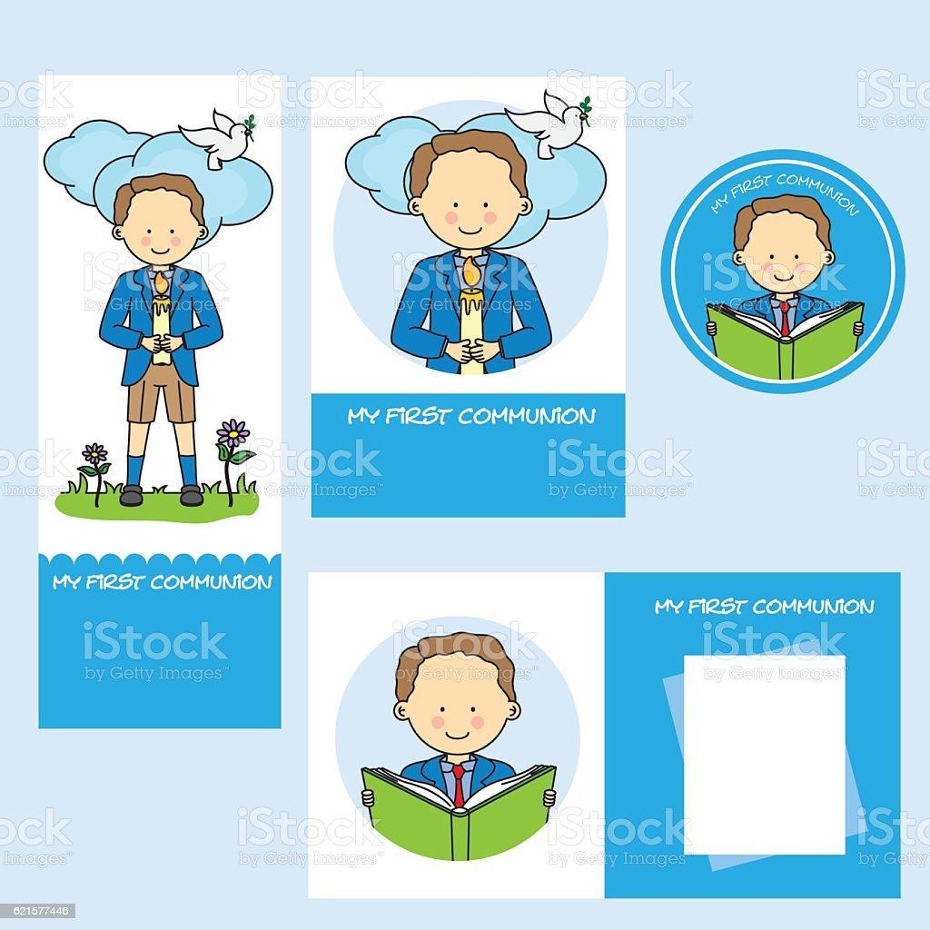 set first communion boy set first communion boy – cliparts vectoriels et plus d'images de bonheur libre de droits