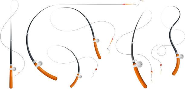 15 Bent Fishing Rod Illustrations Royalty Free Vector Graphics Clip Art Istock