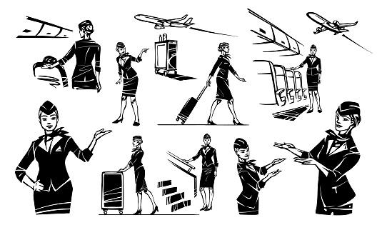 Set flight attendant