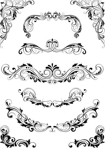 Set mit Trennwänden Blatt design – Vektorgrafik