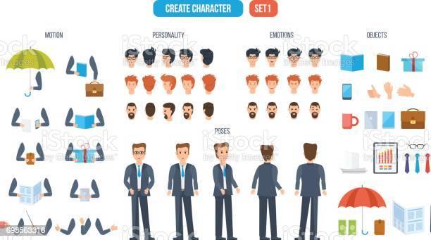 Set for creating character businessman consisting of various details vector id698563316?b=1&k=6&m=698563316&s=612x612&h=018axvafdujnad5rfz4yd2n1laaqlvt0kfpxsybqns8=