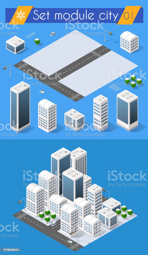 Set for design 3d vector art illustration