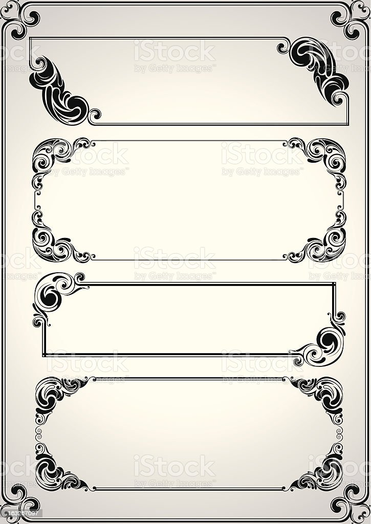 Set frame design royalty-free set frame design stock vector art & more images of abstract