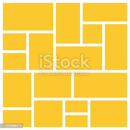 istock Set frame for photos and pictures, photo collage. Mood board branding presentation. Vector graphic design 1203586070