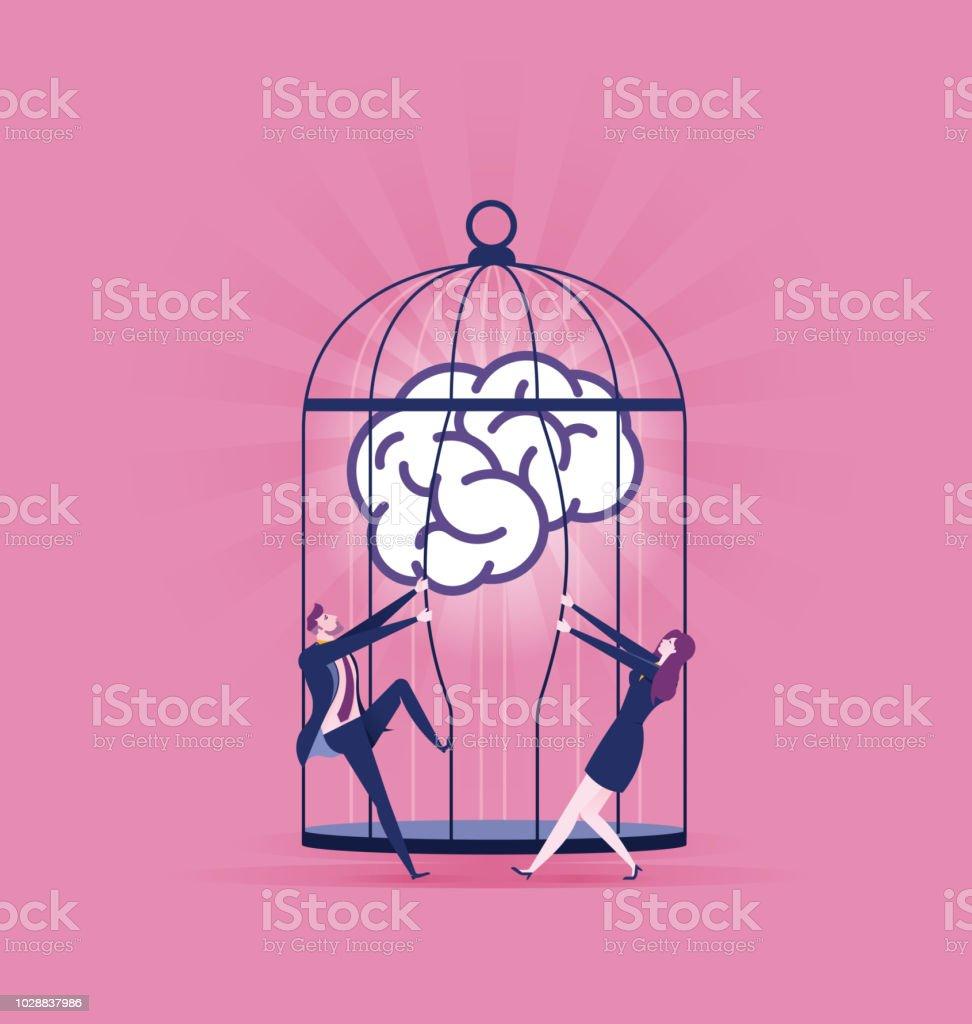 Set free ideas - Breate business Concept vector illustration vector art illustration