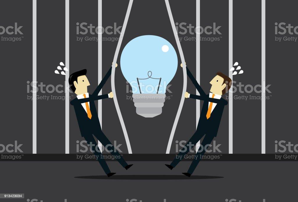 Set free ideas vector art illustration