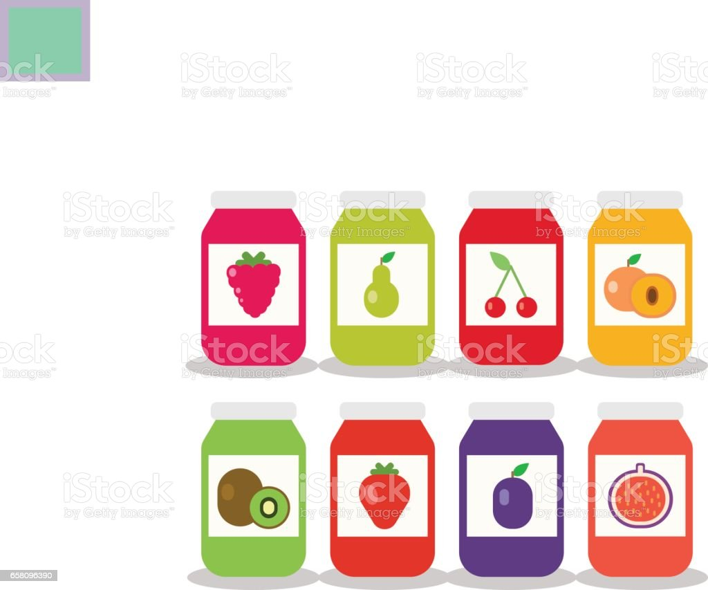 Set from jars with fruit and berry jam royalty-free set from jars with fruit and berry jam stock vector art & more images of apricot