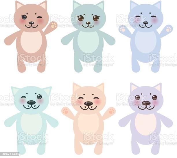 Set funny cats pastel colors on white background vector vector id486711406?b=1&k=6&m=486711406&s=612x612&h=xkdnixtstocmj5fmx0pvodjjdxcbptefkfdaj10fjzy=