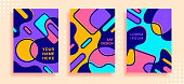 Set geometric bright background for poster, Minimal vector covers design for brochure and web design, card, flyer.