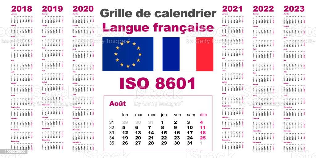 Calendrier 2021 Avec Semaine.Calendrier Mural De Grille Set France Francais Gaulois