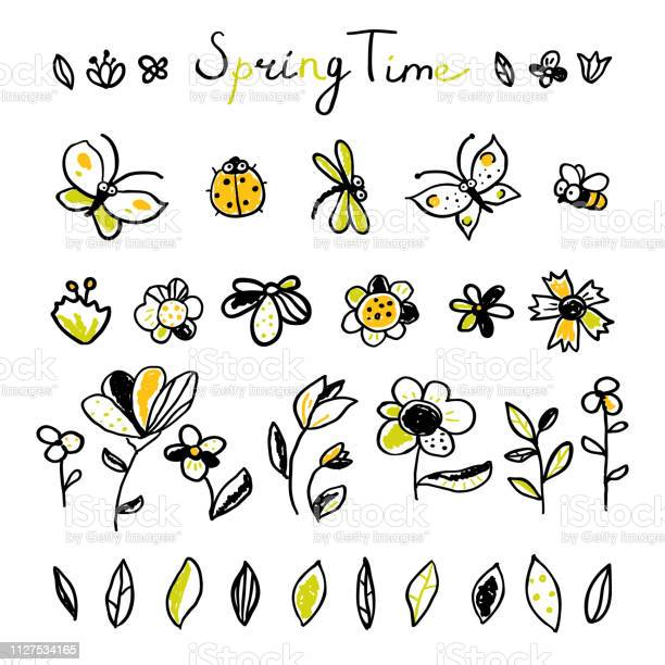 Set hand drawn floral leaves and insects elements vector id1127534165?b=1&k=6&m=1127534165&s=612x612&h=qv3efhw1xldtgjokappsuaccsmtusyiuwi7cxsw7npq=