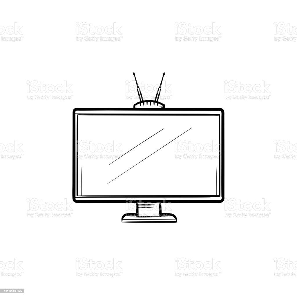 Fernseher Gezeichnet