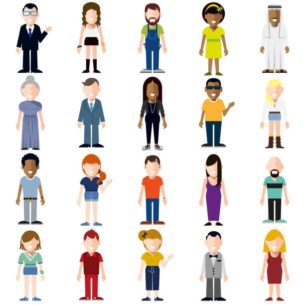 ilustraciones, imágenes clip art, dibujos animados e iconos de stock de gente feliz de historieta de - personas de dibujos animados