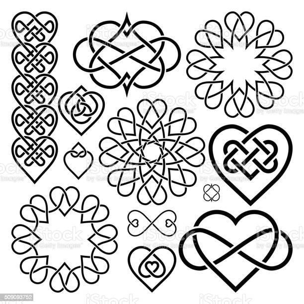 Set hearts intertwined in celtic knot vector id509093752?b=1&k=6&m=509093752&s=612x612&h=amh87jiuwzekpj5z6qw1flh5bo msn2abuj s5cl2tc=